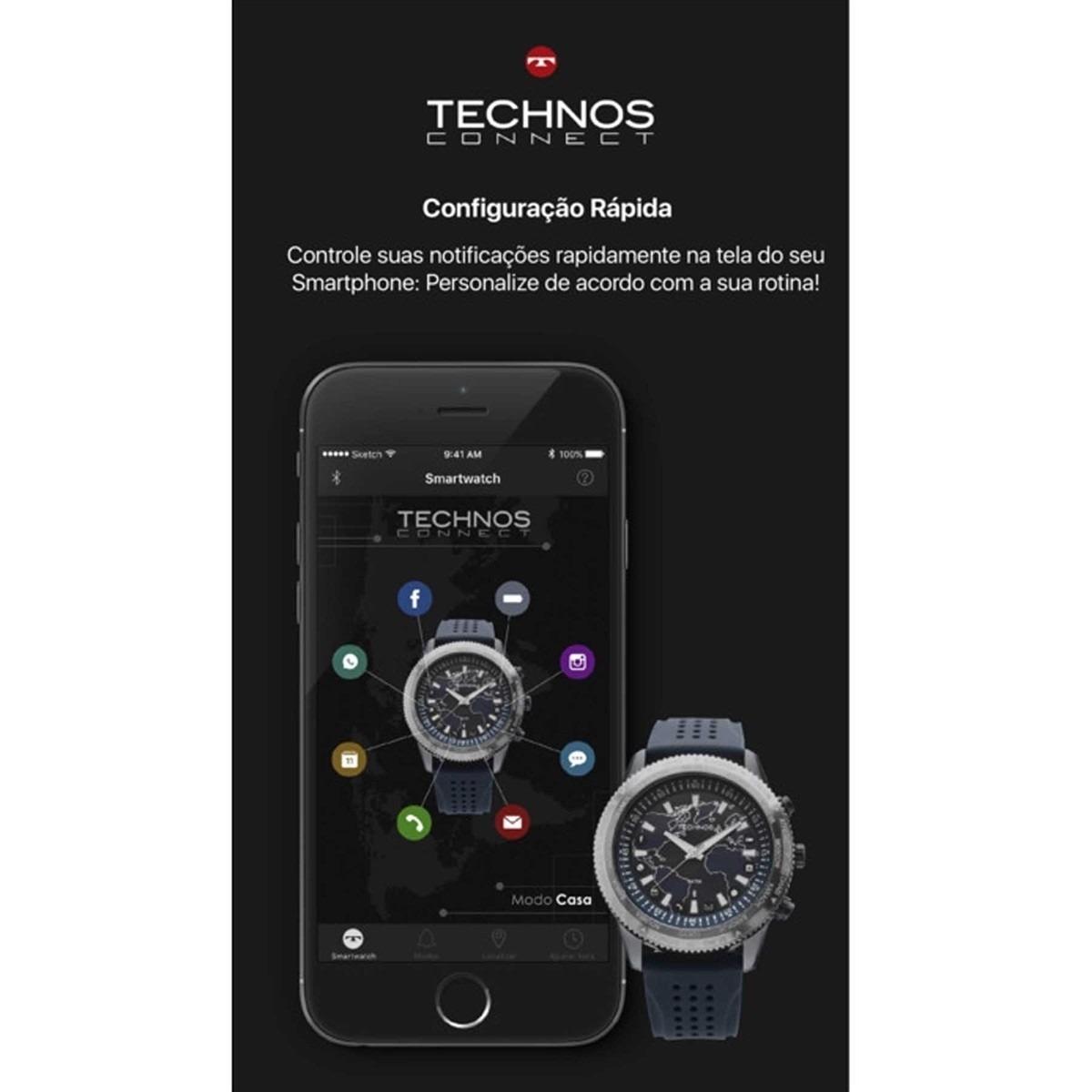 8bd311c8649d2 relógio technos connect 2.0 troca pulseiras - 753ac 4m. Carregando zoom.