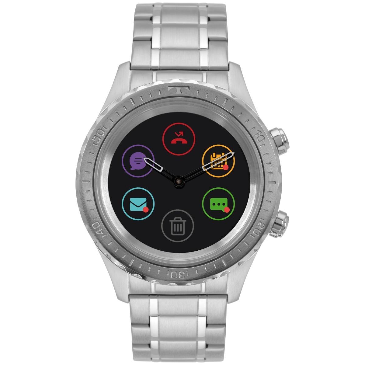 3de8b41382ec9 Relógio Technos Connect Duo P01aa 1p Smartwatch Prata 2019 - R  1.244