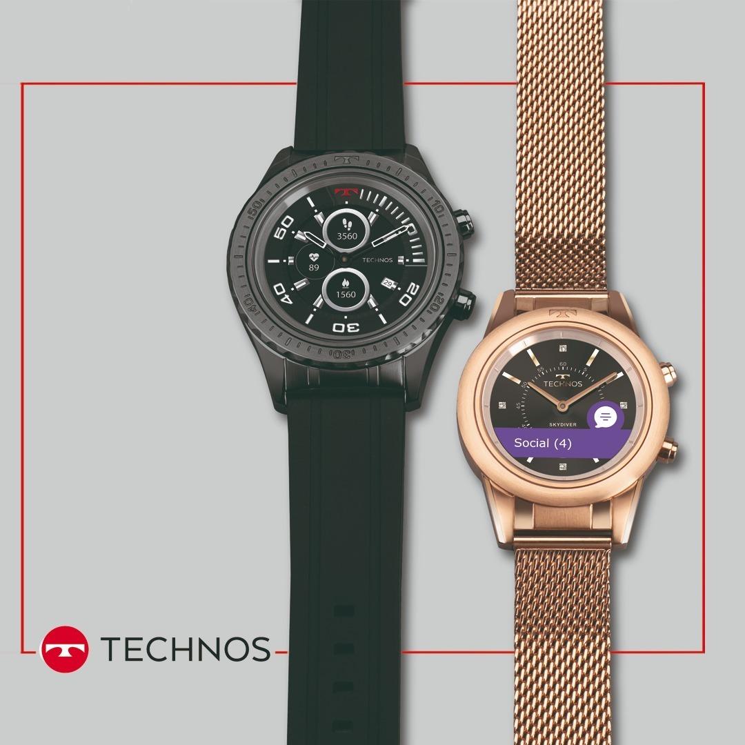 32c678adc1c0b relógio technos connect duo p01ab 4p preto smartwatch brinde. Carregando  zoom.