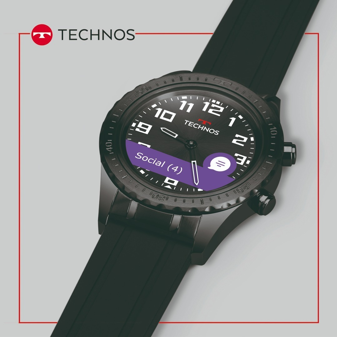 361257bb66a0a relógio technos connect duo p01ab 4p preto smartwatch brinde. Carregando  zoom.
