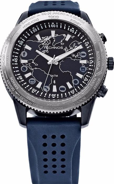 Relógio Technos Connect Masculino Analógico - 753ab 8a Azul - R ... 581d9ec1a9