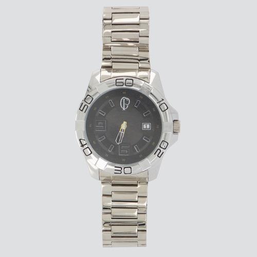 relógio technos corinthians prata e preto