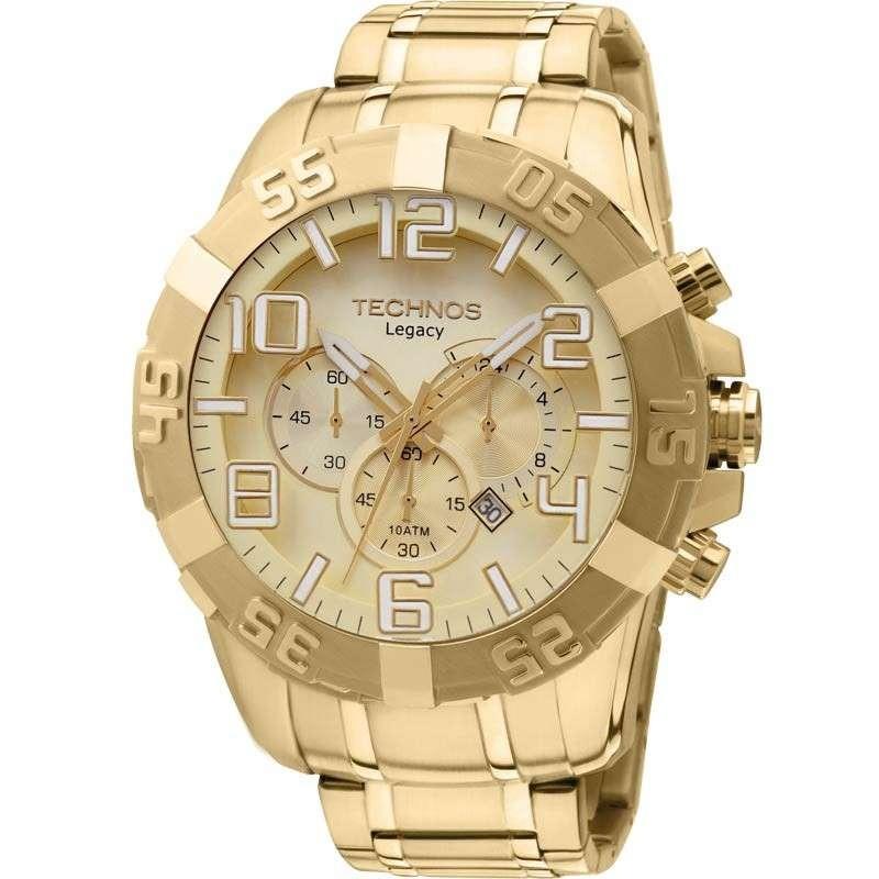 relógio technos cronógrafo classic legacy os20ik 4x dourado. Carregando  zoom. 14adf041a7