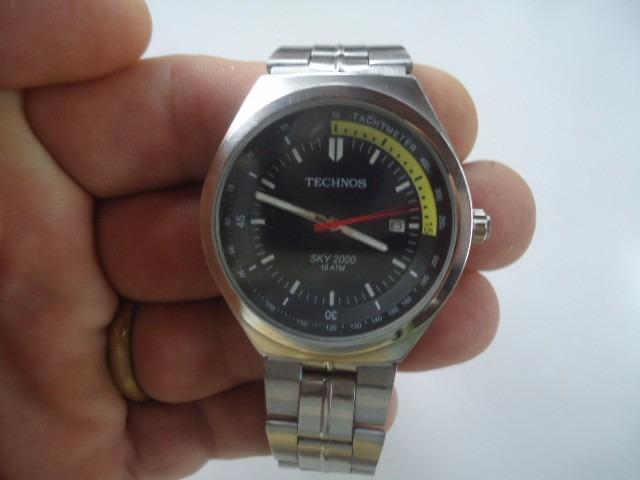 a2f98d8e8f3 Relógio Technos Data Semi Novo - R  150