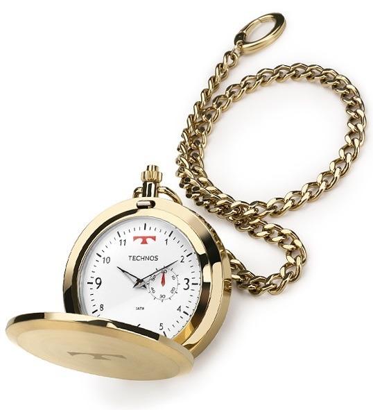 d2942c3a4db Relógio Technos De Bolso Masculino 1l45bb 4b Aço Dourado - R  398