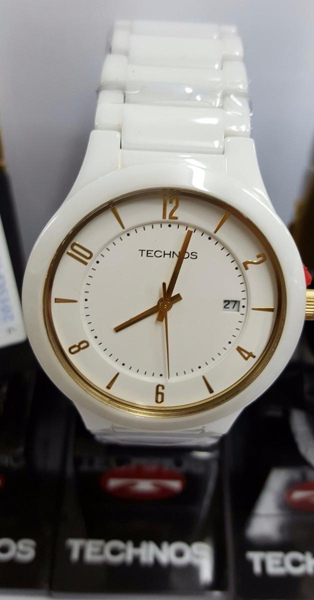 relógio technos de cerâmica branco com calendário gm10ij 1b. Carregando  zoom. 09bd405e39