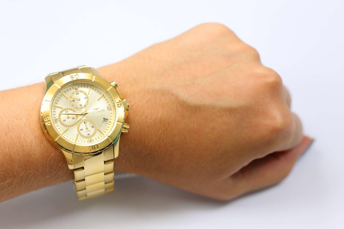 111b1213084 relógio technos dourado feminino elegance dress js15bm 4d. Carregando zoom.
