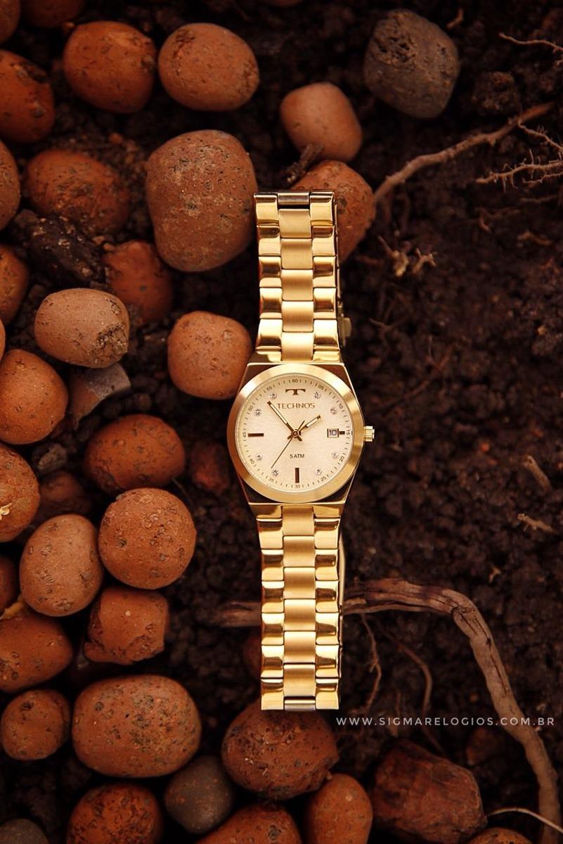 09e63d27f48e5 relógio technos dourado feminino fashion trend 2115kzr 4x. Carregando zoom.
