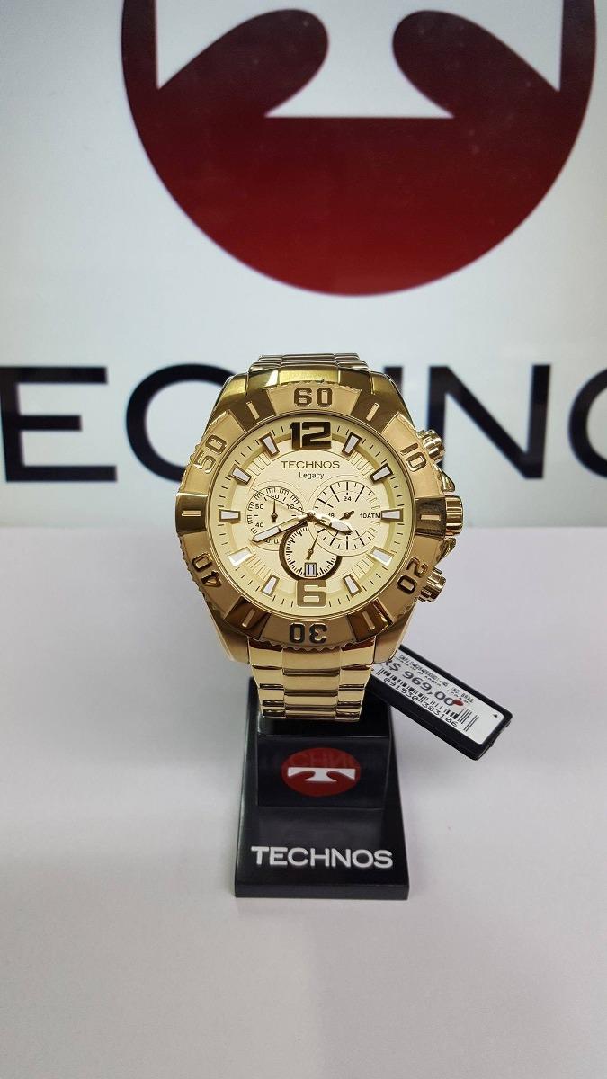 acc452768ff relógio technos dourado grande cronógrafo legacy os20ib 4x. Carregando zoom.