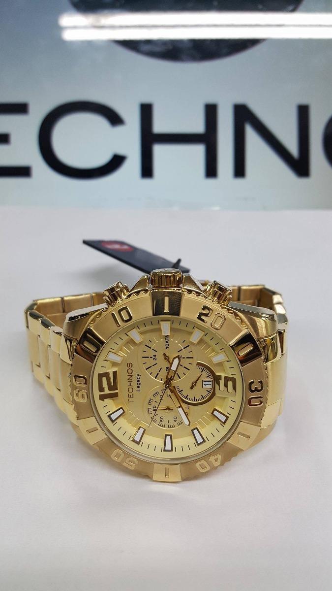 ecf551f3992 relógio technos dourado grande cronógrafo legacy os20ib 4x. Carregando zoom.