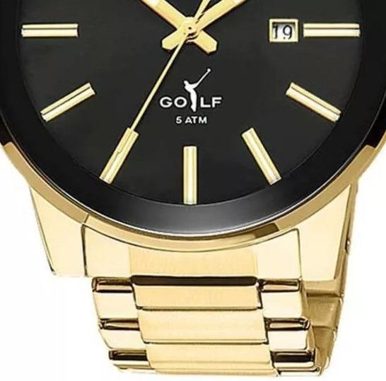 Relógio Technos Dourado Masculino Analógico 2115tt 4p + Nf-e - R ... 4feea80756