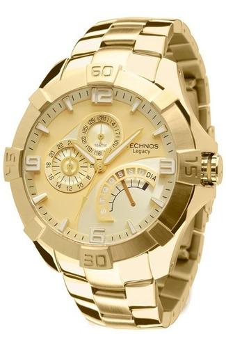relógio technos dourado masculino classic legacy jr00ah/4x