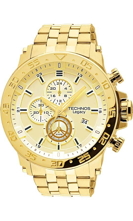 relógio technos dourado masculino classic legacy js15ao 4x. Carregando zoom. 4000b5628b