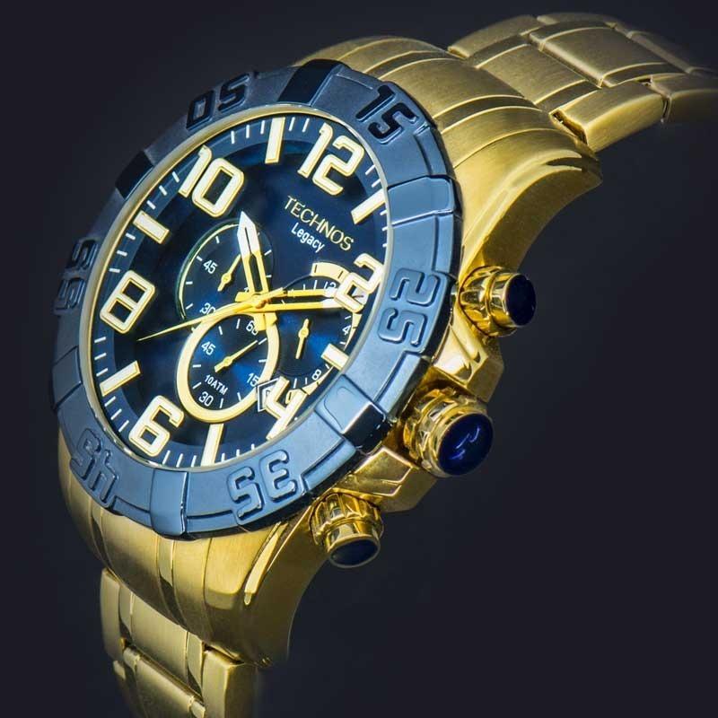 relógio technos dourado masculino classic legacy os20iq 4a. Carregando zoom. 9cb473b7aa