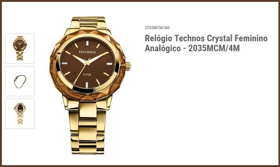 272f4b614bb3b relógio technos elegance crystal 2035mcm 4m c nfe. Carregando zoom.