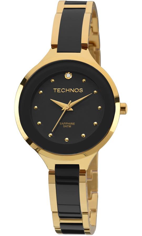 c911a31ff47 relógio technos elegance dourado cerâmica 2035lyw 4p. Carregando zoom.