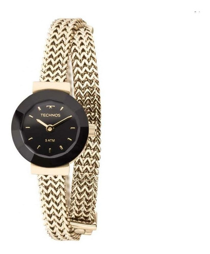 relógio technos elegance mini dourado feminino 5y20ip/4p