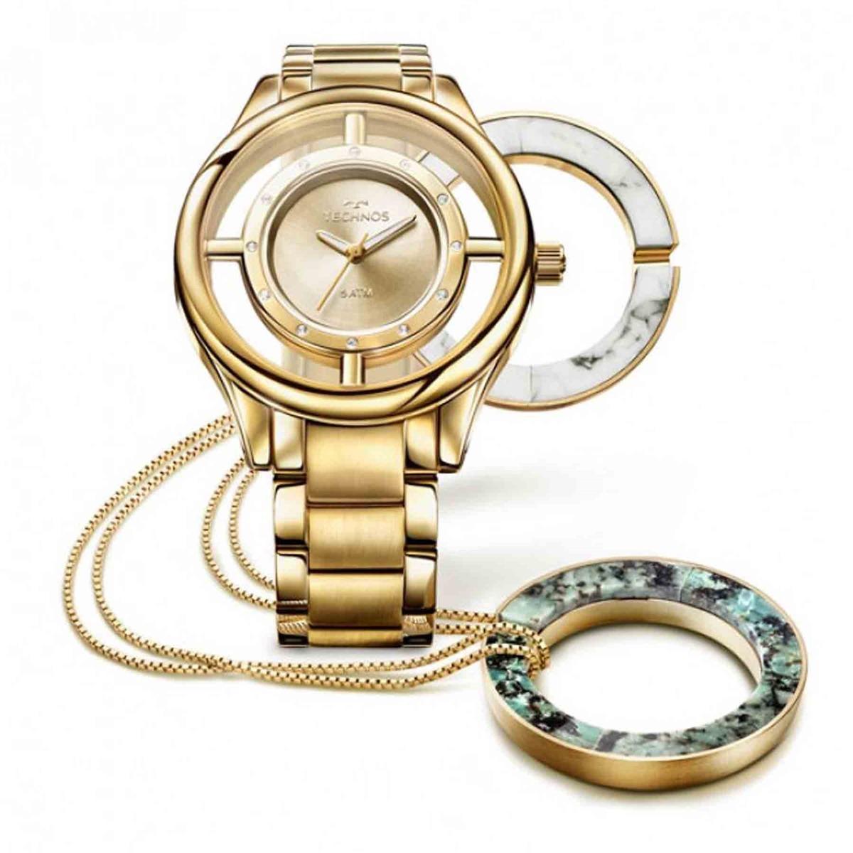 6b2165841be8e relógio technos elegance stone collection troca aros kit com. Carregando  zoom.