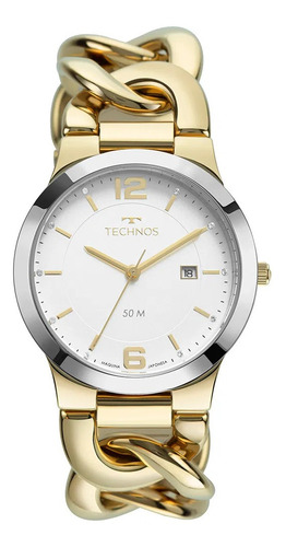 relógio technos elos feminino dourado garantia nf 2115mwf/1k