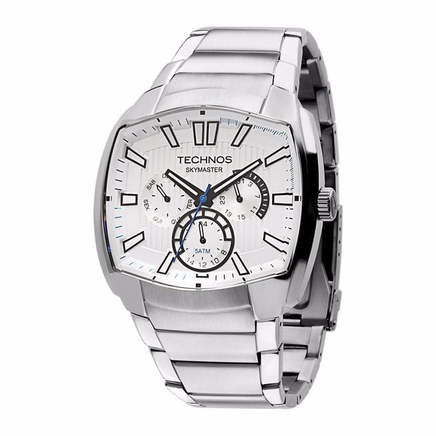 c2c345ff737 relógio technos esportivo de aço masculino prata 6p29agx 1c. Carregando  zoom.