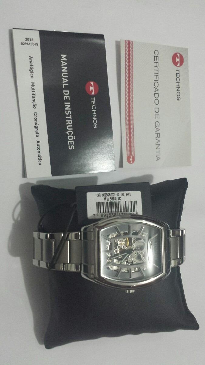 Relógio Technos Esqueleto Automatic Mw6807 1c - R  799,99 em Mercado ... d1c26b6d6d
