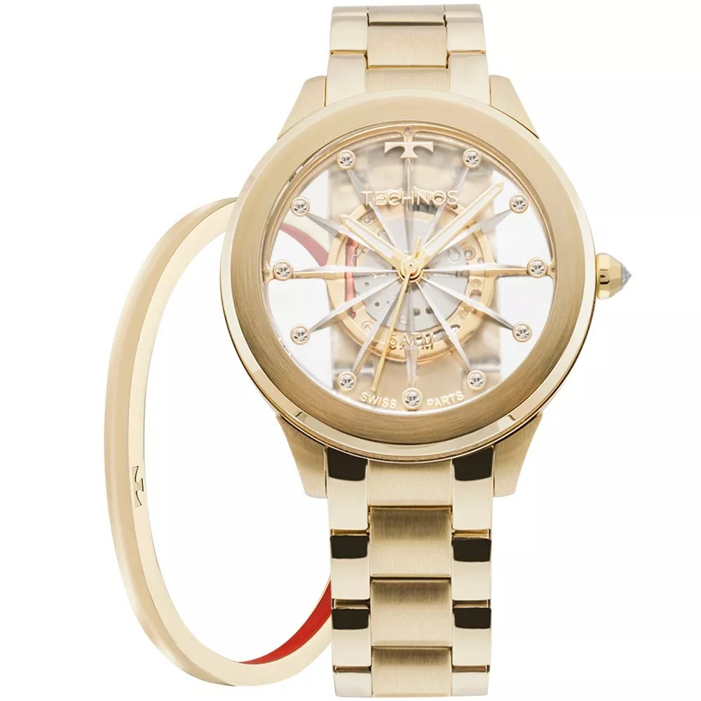 8c5b12ef0fa3c relógio technos essence crystal feminino kit f03101aa k4w. Carregando zoom.