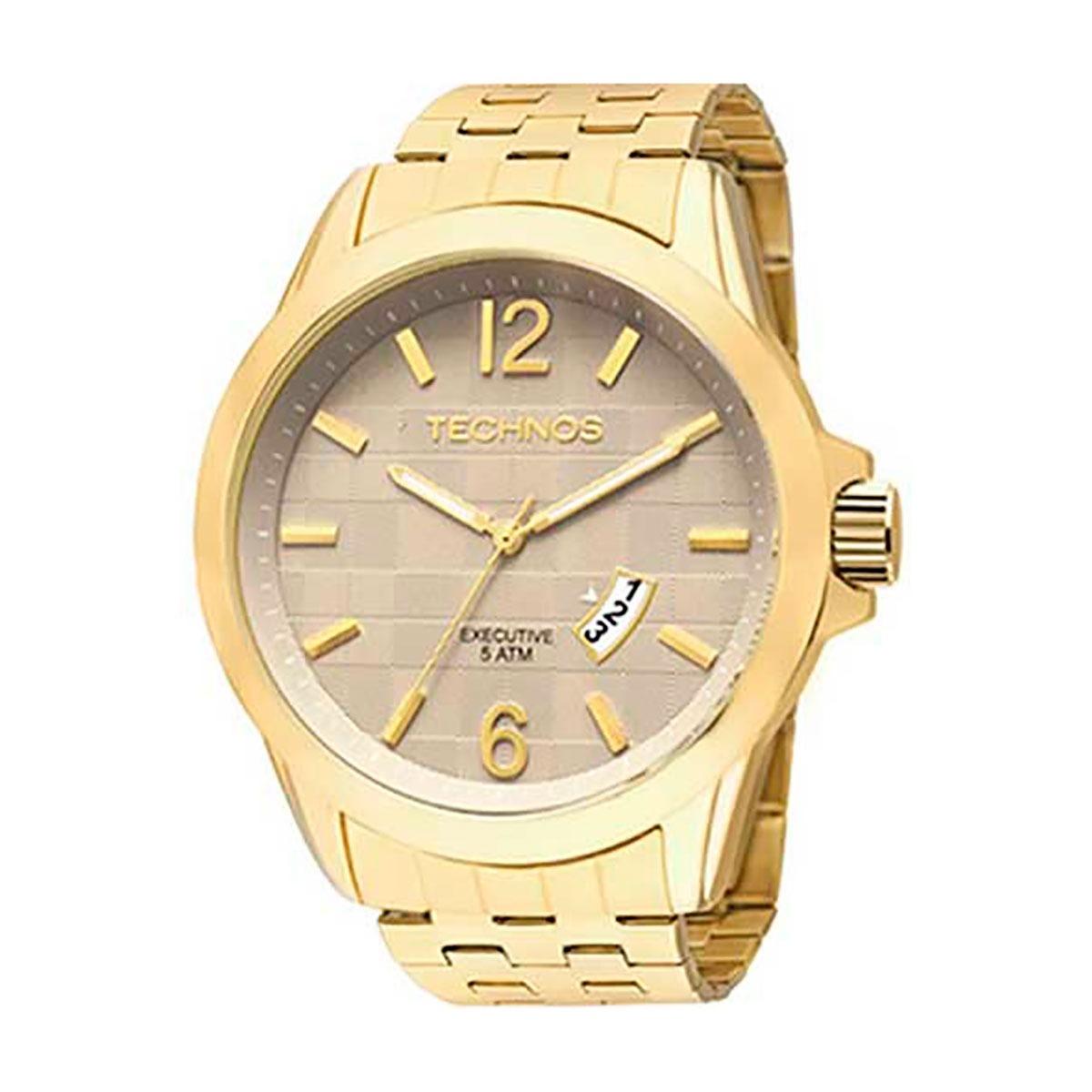 7243ca9de1d8f relógio technos executive original masculino 2115krq 4x. Carregando zoom.