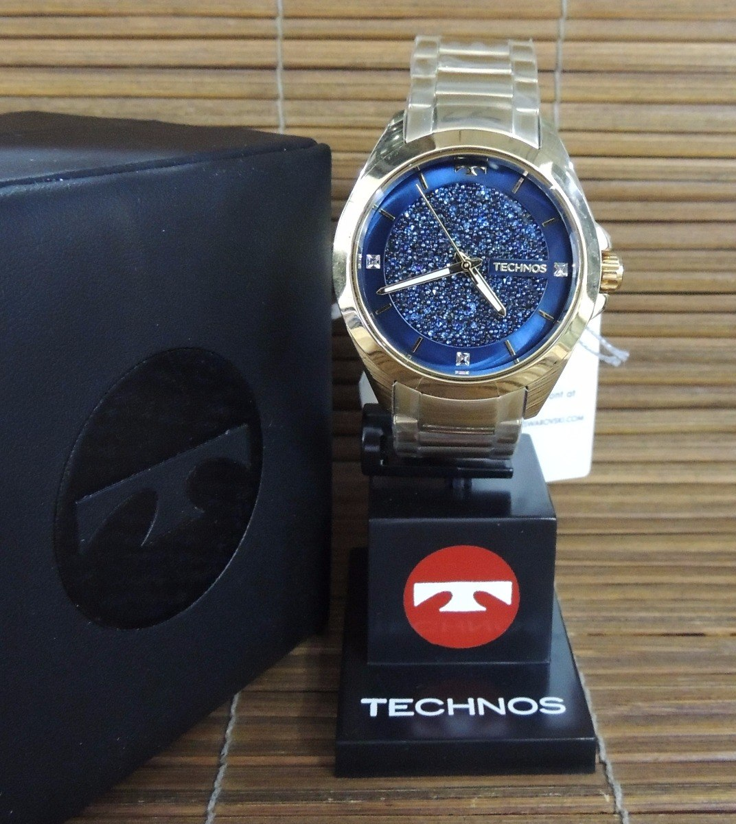 Relógio Technos Feminino 203aaa 4a Elegance Crystal ( Nf ) - R  458 ... a9eaa7ef0f
