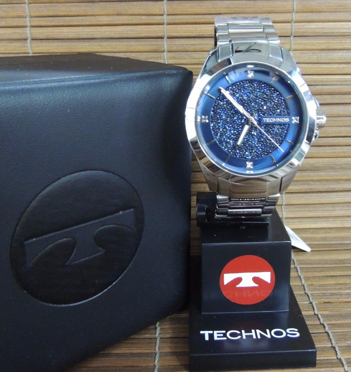 relógio technos feminino 203aab 1a elegance crystal ( nf ). Carregando zoom. ae389e8a7e