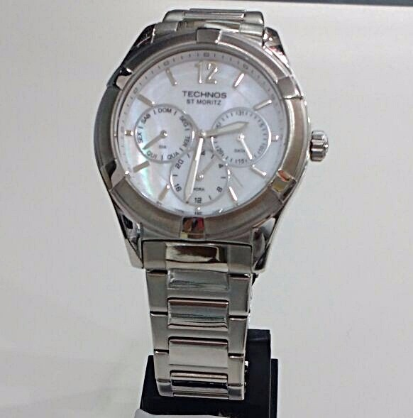 9299c7d56 relógio technos feminino elegance st. moritz 6p29gu 1b prata · relógio  technos feminino