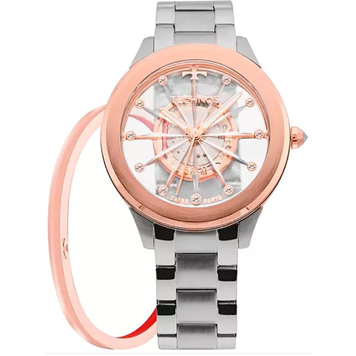 e3de9a1c13c9b Relógio Technos Feminino Elegance Crystal F03101ab k1w - R  699