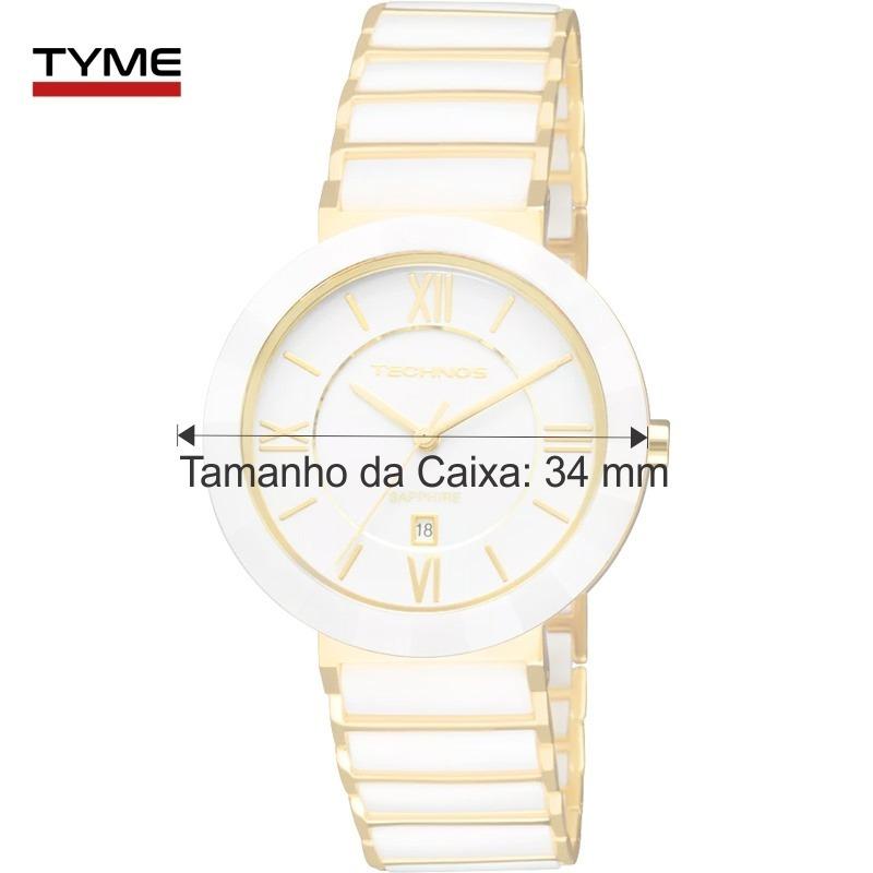 2257a563a383e Relógio Technos Feminino Cerâmica Branco 34mm 2015ce 4b Nfe - R  596 ...