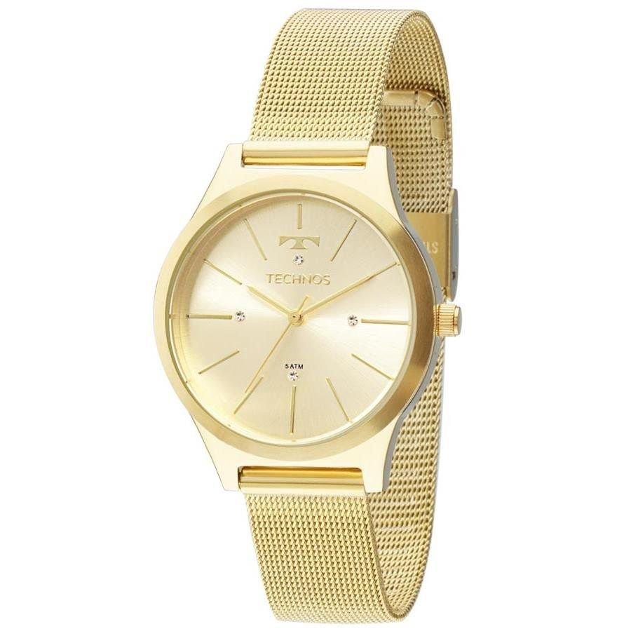 Relógio Technos Feminino 2039bd 4d Fashion Trend Dourado - R  279,90 ... 39d09aa437