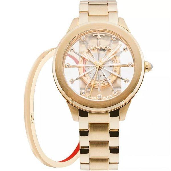382e36ea4fe86 Relógio Technos Feminino Essence Suiço F03101aa k4w Dourado - R  595 ...