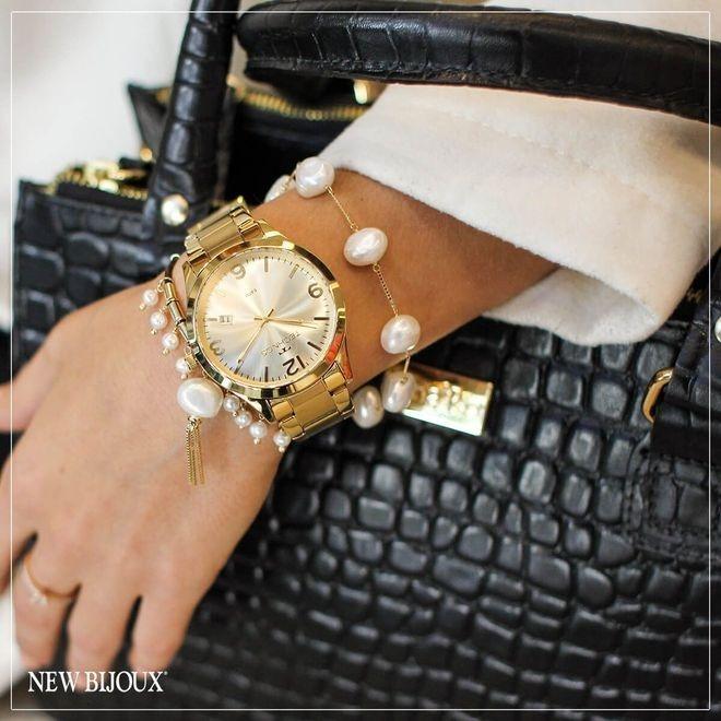 5533e63fe6d Relógio Technos Feminino Elegance Dourado 2315acd 4x - R  269