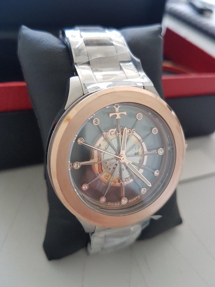 fcbc0517b82 Relógio Technos Feminino Essence Suiço F03101ab k1 Rose - R  620