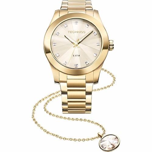 2901a9a56ca Relógio Technos Feminino Elegance Crystal Swarovski Kit Com - R  464 ...