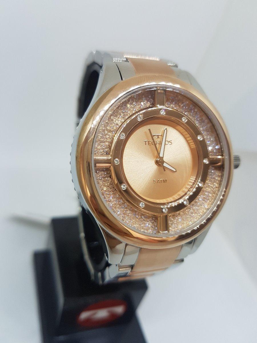 9f5438ed41db8 Relógio Technos Feminino Elegance Crystal Rose Gl30fn 5a - R  554