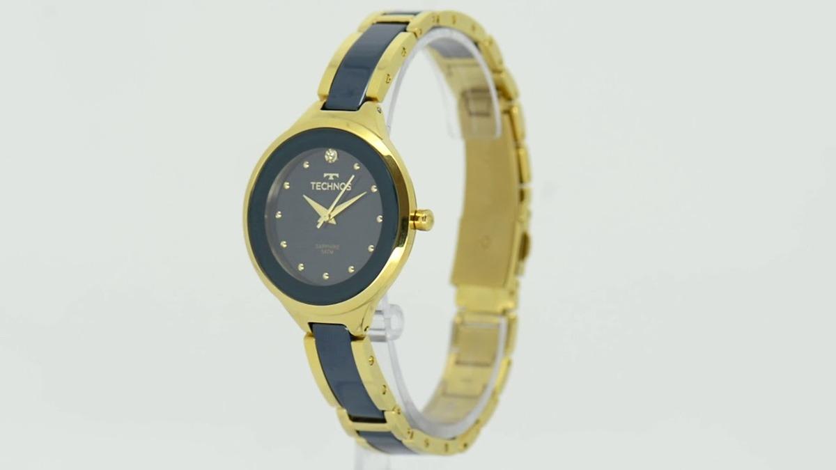 3fbc08d4ed7c2 Relógio Technos Feminino Ceramica Azul 2035lyv 4a - R  599
