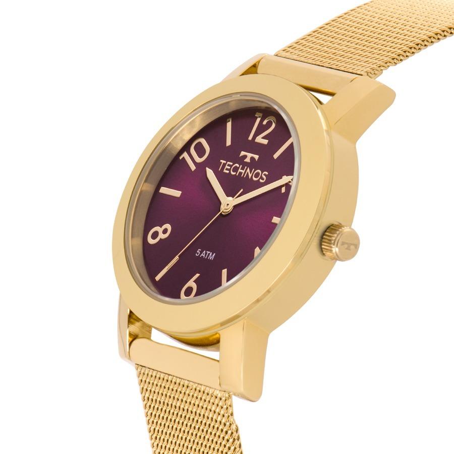 149a4c4f67d Relógio Technos Feminino Elegance Dourado Nfe 2035mlp 4n - R  175