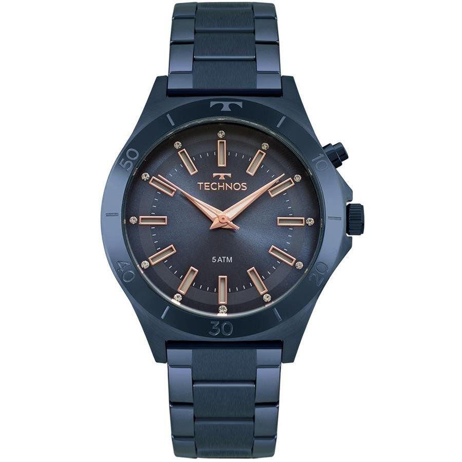 b727362928947 Relógio Technos Feminino Ref  Y121e3ac 4a Fashion Azul - R  356