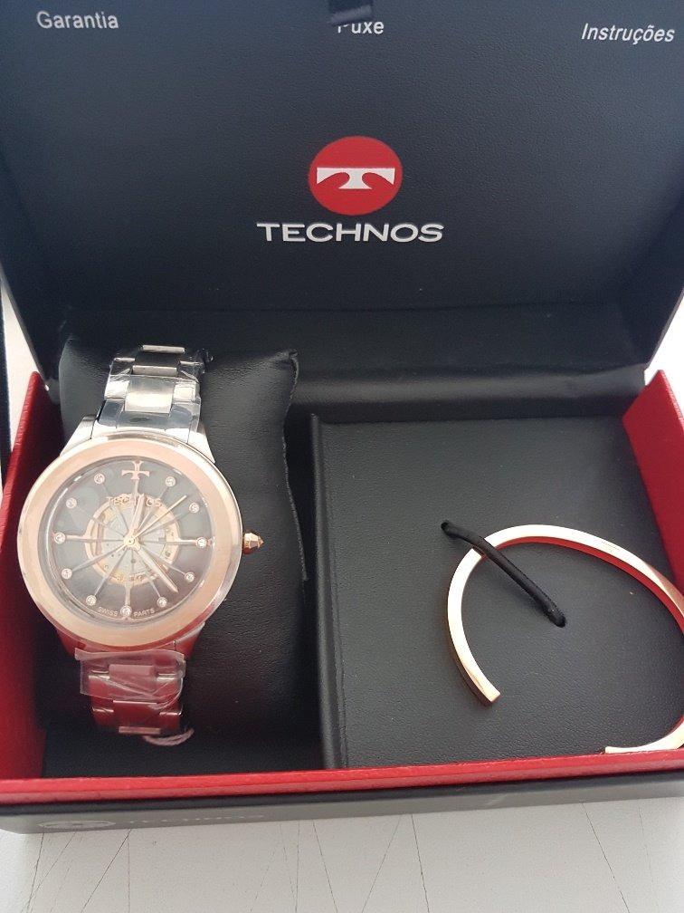 c319e666f4f65 Relógio Technos Feminino Essence Suiço F03101ab k1 Rose - R  620