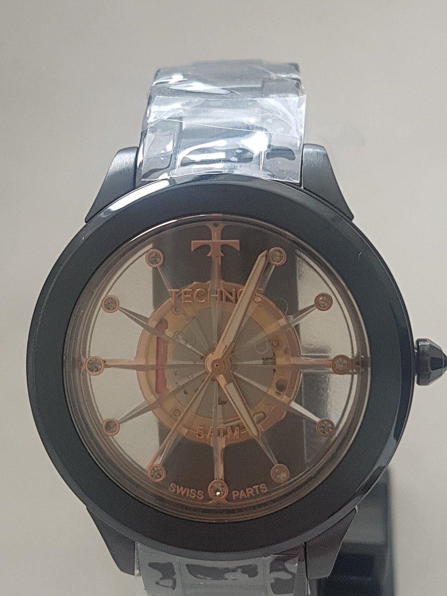 85771a0f791 Relógio Technos Feminino Essence Suiço Preto F03101ac 4w - R  595