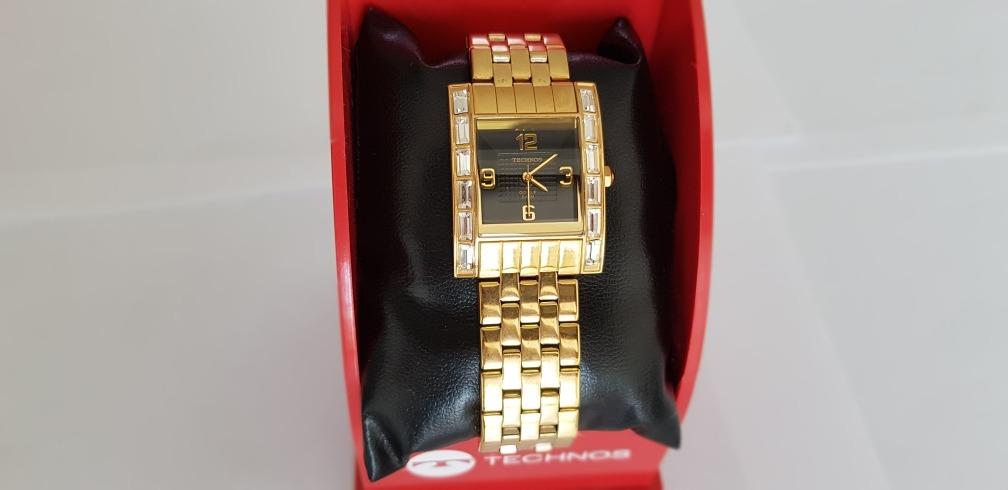 4a4b342e13a Carregando zoom... technos feminino relógio. Carregando zoom... relógio  technos feminino na caixa novo folheado a ouro lindo