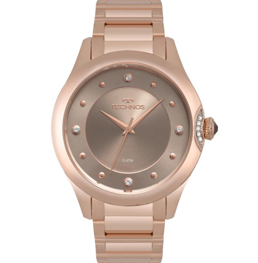 3027158b4e309 Relógio Technos Rose Feminino Elegance Crystal 2035mqa 5c - R  489 ...