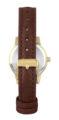 relógio technos feminino boutique dourado 2035mow/2x