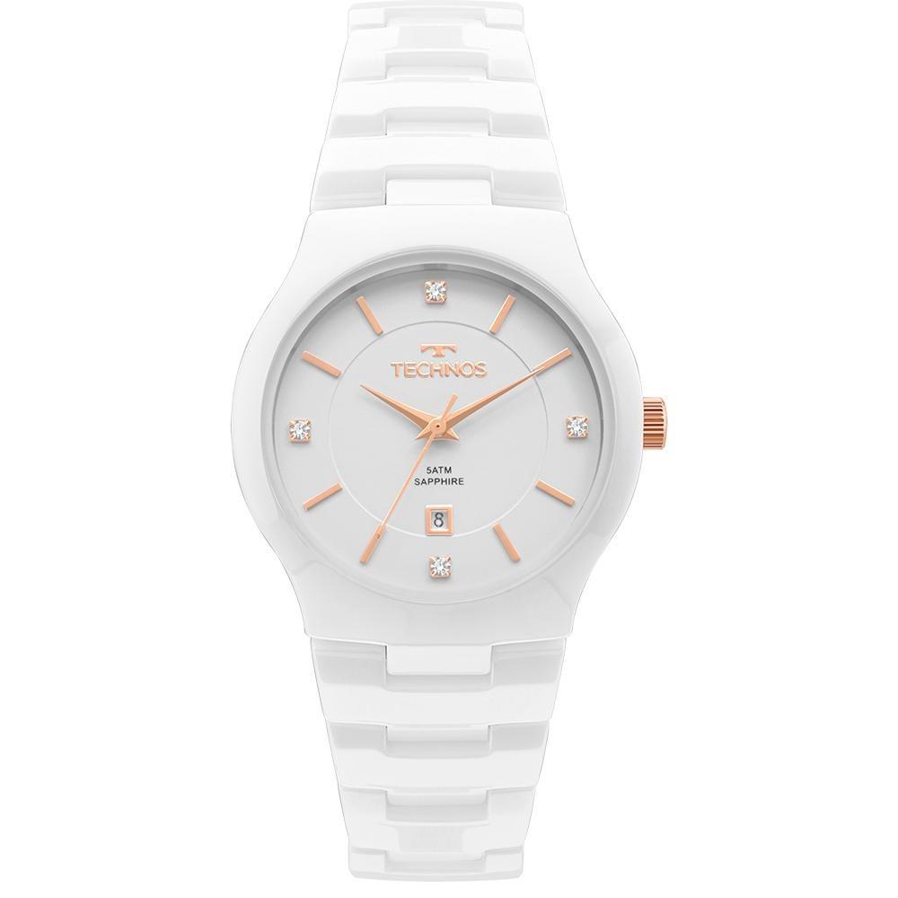 Relógio Technos Feminino Ceramic Branco Gn10av 4b - R  739,90 em ... 3bb3974183
