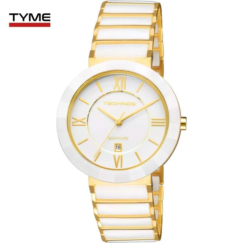 8ab965cd04900 relógio technos feminino cerâmica branco 34mm 2015ce 4b nfe. Carregando zoom .
