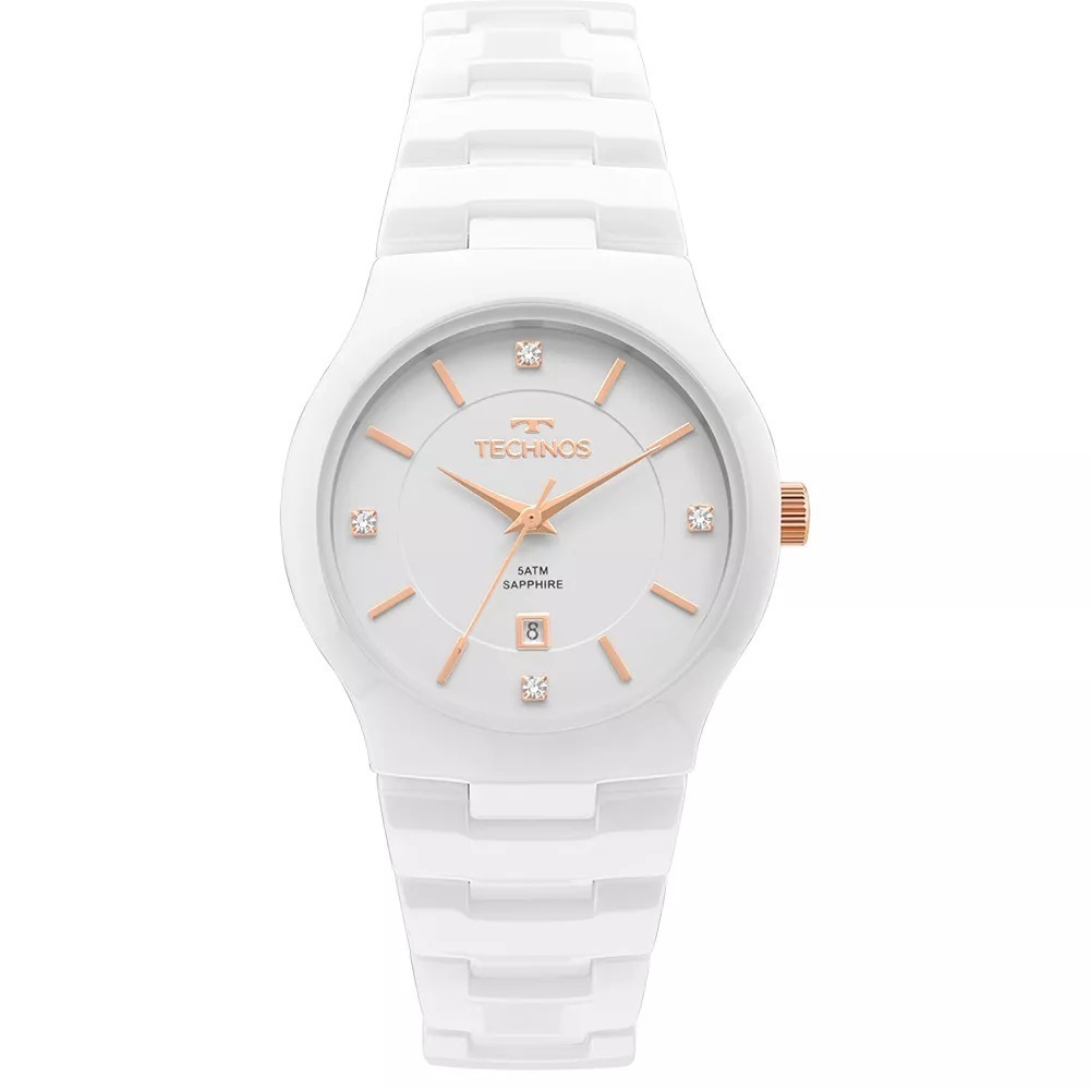 6c43a604d352a relógio technos feminino cerâmica safira branco gn10av 4b nf. Carregando  zoom.