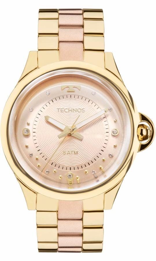 Relogio Technos Feminino Crystal 2039bl 4t Dourado Rose - R  558,90 em  Mercado Livre 1b0d705c35